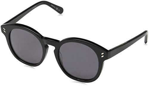 Stella mccartney sc0013s 001 occhiali da sole, nero (001-black/grey), 50 unisex-adulto