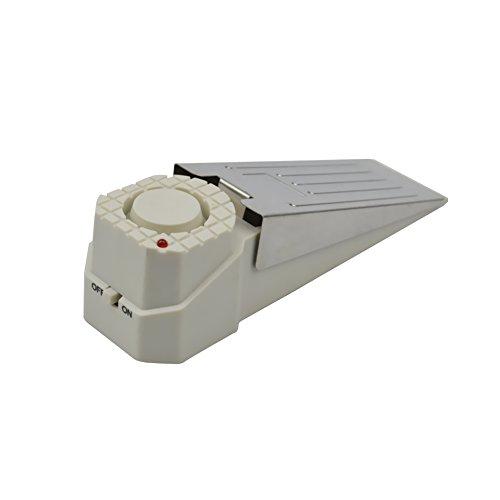Türstopper Alarm ([1 Stück ] Weiß Alarmtürstopper Alarm Stopper Türstopper Schlafzimmer Stopper Türalarm Einbruchschutz 120dB Sirenen Türakte mit Batterie)