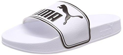 Puma leadcat, scarpe da spiaggia e piscina unisex – adulto, bianco white black, 37 eu