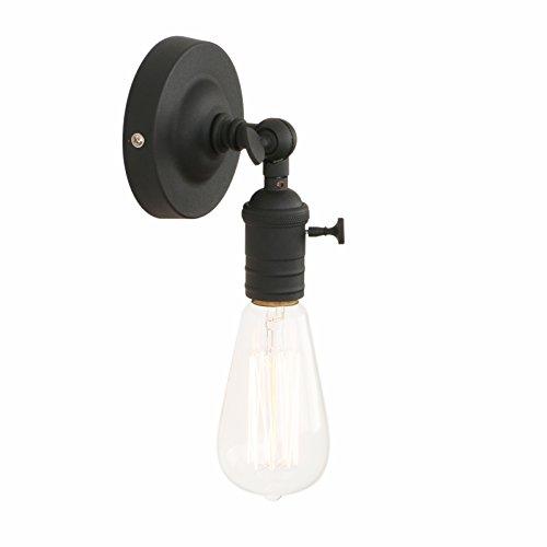 Pathson Wandbeleuchtung Wandleuchten Vintage Industrie Loft-Wandlampen Antik Deko Design Wandbeleuchtung (Schwarz Farbe) -