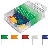 LEBEZ scatola 20 spilli a bandierina verde art. 269