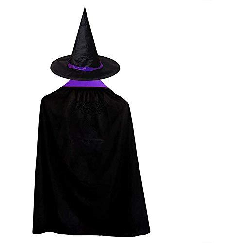 OKME Custom Hexen Umhang,Schwarze Musiknoten Storm Witch Wizard Umhang Mit Hut Halloween-Kostüme Für Mädchen Jungen (Storm Kostüm Mädchen)