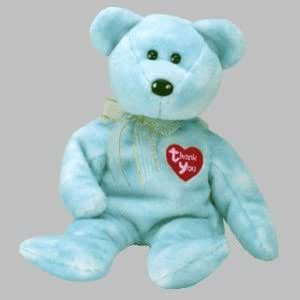 """Extremely Rare TY Thank You Beanie Bear - exclusive bear distributed to TY """"Retailers"""""""