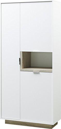 CS Schmalmöbel 56.012.541/60 Standschrank MY ELL, Holz, weiß / eiche, 37 x 86 x 187 cm