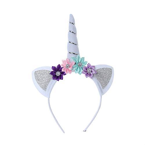 eifen Halloween Horn Kopfschmuck Karnevalskostüme Zubehör Haarreif Horn Cosplay Haarspange für Kinder Perfektes Feriengeschenk - Silber ()