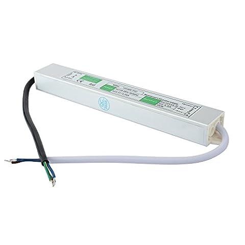 Liqoo® DC 12V Etanche Transformateur LED Transfo Alimentation 3A 36W Driver Convertisseur AC 110 - 260V à DC 12V Pour Ruban et Ampoule LED