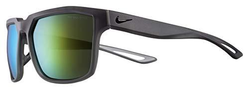 Nike Herren Bandit M Sonnenbrille, Anthrazit/Schwarz/Grün, mit Petrol-Spiegelgläsern