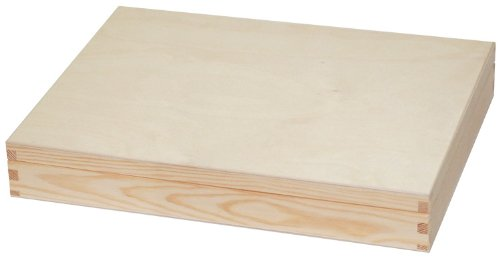 Unpainted Wooden Box A4 Size/ Plain Wooden Box/Decoupage Art Hand Craft 34,2x25,2 x 5,2 cm