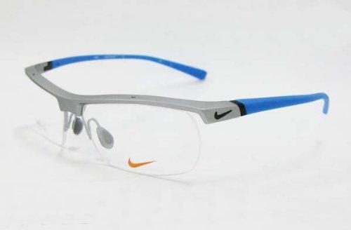 Nike Herren Brillengestelle 7071/2 080 57, Blau (Matte Platinum/Slate Bluee)