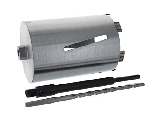 Diamant Bohrkrone SDS-plus lang (200mm) Aufnahme und Zentrierbohrer Nutzlänge 180 mm Ø 132 mm Betonbohrkrone Kernbohrer
