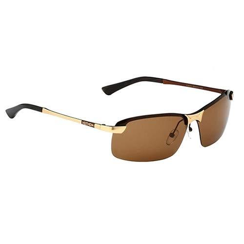 Man9Han1Qxi Die polarisierten Sonnenbrillen der Art- und Weisemänner Fahren Fischen-Glas-Brillen-Anti-UVsonnenbrille im Freien Golden