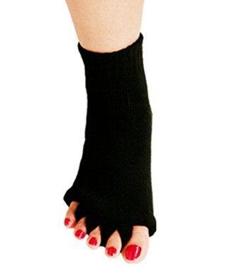 Xpartner yoga health massage five fingers calze per piedi allineamento pain relief mezze calze per le donne