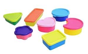 Plast Team 50120201 Lot de 7 Boîtes d'Alimentaire Mini Polypropylène Multicolore 7,4 x 14 x 16 cm