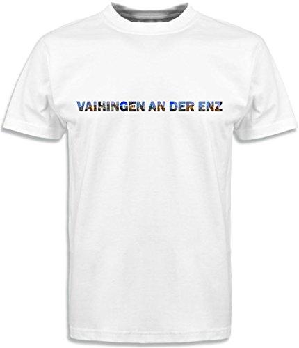 T-Shirt mit Städtenamen Vaihingen Weiß