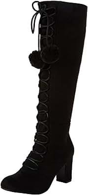 Joe Browns Forever Individual Pom Pom Boots Riding Boots Donna, Black (Black), 37 EU (4 UK)