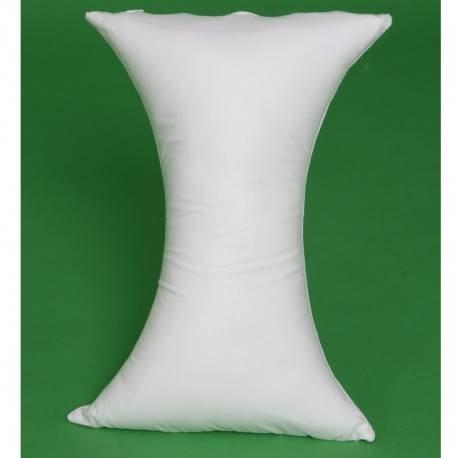 Queraltó Almohada Cervical con Forma de Mariposa, Blanco, 14x38x15cm