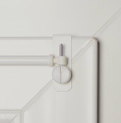 'dekondo Barras 'Creativ-Extensible 60-80cm Color Blanco-12enganches para ventana grosor 15-20mm (Fijación superior o lateral posible)