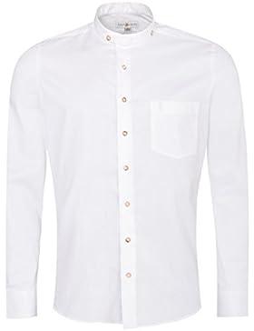 Almsach Trachtenhemd Elias Slim Fit in Weiß Inklusive Volksfestfinder