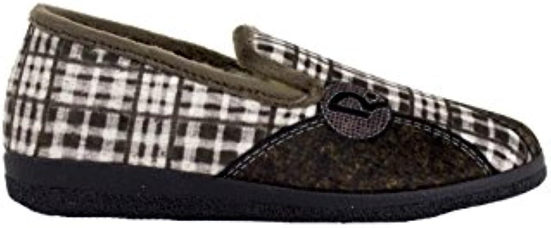 Roal - Pantufla Cerrada Parches Marrón  Venta de calzado deportivo de moda en línea