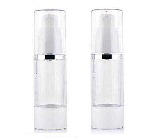 3PCS Effacer Airless Pompe Bouteilles-Rechargeable Bouteilles En Plastique Bouteille Maquillage Cosmétique Crème Lotion Articles De Toilette Conteneurs De Stockage Liquide Jar Pots (30ml)