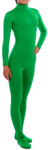 howriis Damen Spandex Unitard für Erwachsene und Kinder Gr. M, Mehrfarbig - Grün (Morphsuit Für Frauen)