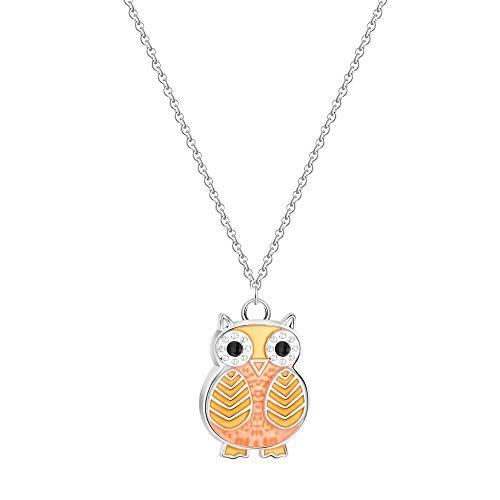 AAMOUSE Halskette Charming Cute Night Owl Tierkette Colliers Halskette Anhänger für Frauen Pet Lovers Geburtstagsgeschenk Kostüme - Cute Owl Kostüm