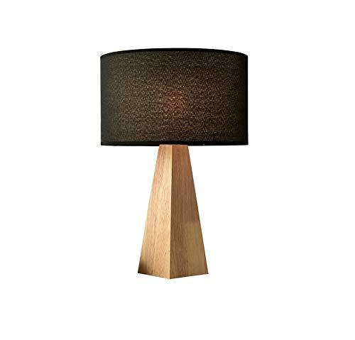 Preisvergleich Produktbild Xiao Yun / Nordic Tischlampe,  Nachttischlampe aus massivem Holz Wärme Dekoration Schlafzimmer Studie Lampe Einfacher europäischer Stil Kreative nordische Kreativität (Farbe: SCHWARZ)