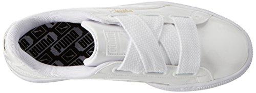 Puma Basket Heart Patent Wn's, Scarpe da Ginnastica Basse Donna Bianco (Puma White-puma White)