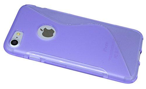 Iphone 7 // S-Line TPU SchutzHülle Silikon Hülle Silikonschale Case Cover Zubehör Bumper in Blau @ Energmix Violett