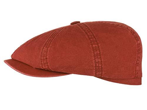 e00fac64fbb3f Gorra Newsboy Hatteras algodón orgánico de Stetson Hats - Burdeos - 55