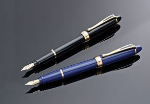 Aurora Ipsilon Deluxe Fountain Pen - Black, Italic Nib B12/N-IT by Aurora (Fountain Italic Pen)