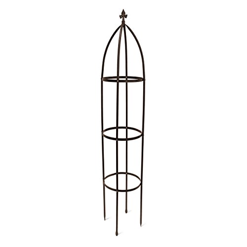 Relaxdays Rankhilfe Obelisk Metall 190 cm