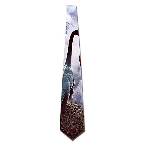 uykjuykj NICOLE Couple Dinosaurs Eco-friendly Fashion Tie Neckwear Neckcloth Choker Neck Tie Elegant Necktie Formal Party Suit Necktie For Men