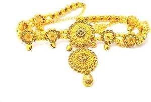 Gupta ASA Jewellers Traditional Pearls Waist Belt Saree Tagdi Kundan & Stone Kamarband for Women – Ladies Fancy Ethnic Gold Plated Hip Belt Kamar Band Chain (Pack of 1)