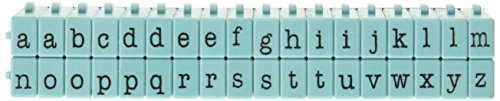 Kontakt USA cu-07113pegz Anschließbare Alphabet Stempel Set, Medium, Tiffany Blau