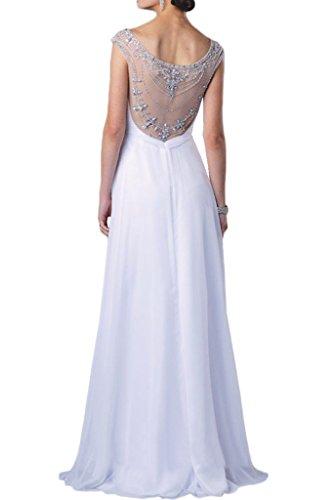 Promgirl House Damen Vintage Royalblau Rundkragen A-Linie Abendkleider Cocktail Ballkleider Lang Traube
