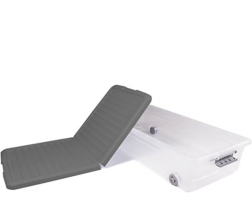 Cassetto Sotto Letto Con Ruote : Ondis24 contenitore sottoletto da 35 litri con rotelle plastica