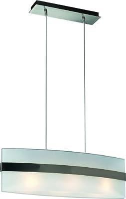 Massive 3024396 Glaspendel Modern 3-Flg. stahl gebürstet, 3 x E27 60 Watt von Massive bei Lampenhans.de