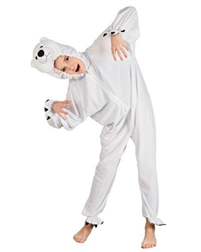 Karneval-Klamotten Eisbär Kostüm Kinder aus Plüsch Eisbären Kostüm Polar-Bär Kostüm Karneval Tier-Kostüm Kinder-Kostüm Größe ()