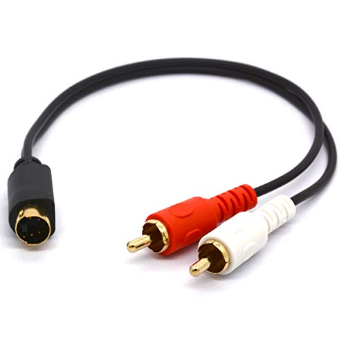 S-Video auf 2-Cinch-Audiokabel, 4-poliger S-VHS-Stecker auf 2 Cinch-Stecker, Y-Splitter-Verlängerungskabel 25 S-video S-video
