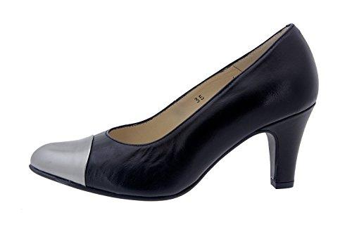 Chaussure femme confort en cuir Piesanto 4203 habillé comfortables amples Piel Negro