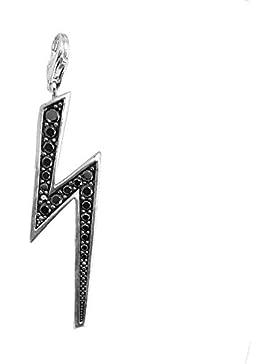 Thomas Sabo Blitz Charm Anhänger Silber mit schwarzem Zirkonia T0275-051-11