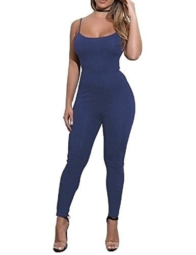 con Lange Overall Ärmellos Abend Party Hohe Taille Strampler Playsuit Jumpsuit ()