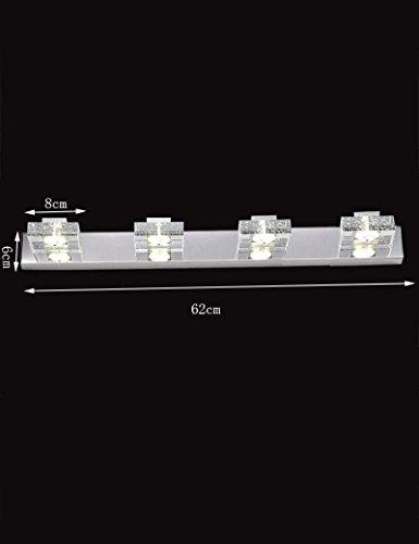 DEED Einfache kreative Wand-Spiegel-Scheinwerfer führten Kristall-Edelstahl-Sockel-Moderne unbedeutende Spiegel-Front beleuchtet Badezimmer-Make-upspiegel wasserdicht und Anti-Fog-Wand-Licht,62cm -