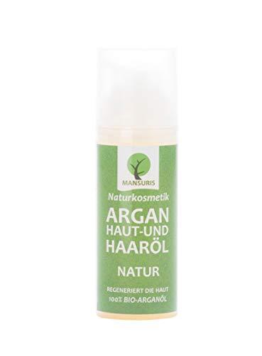 Bio Argan Körperöl & Haaröl duftneutral - Arganöl kaltgepresst für Haare, Körper, Haut & Gesicht - Pflegeöl Vegan & ungeröstet 100{777f4ddf671ddb7bda43fb6b29c5d2ce99c675278e5187fa309a68ada64aad9b} natürlich, Hautöl für trockene Haut & Anti-Aging-Pflege 50ml