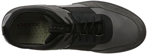 Geox U Traccia B, Sneakers Basses Homme Gris (Anthracite/black)
