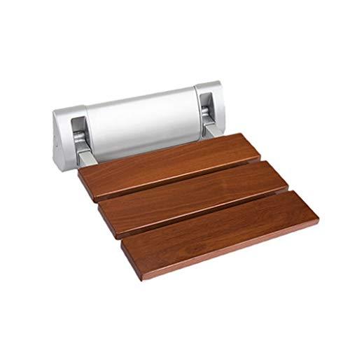YAXIAO Badezimmer Wand-Klapphocker Duschtür mit Schuhen Mutterschaft Ankleideraum Sitz Badehocker (Color : Wood Color, Size : 32.8cm*32cm)