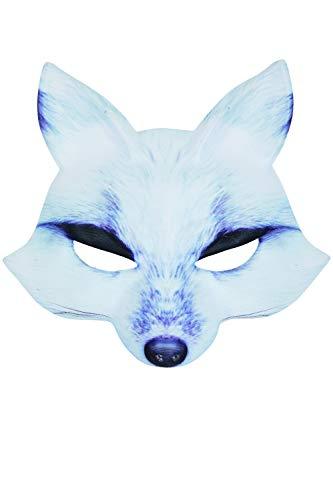 Bristol Novelty PM170Wolf Maske EVA, Männer, Frauen, weiß, One ()