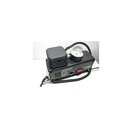 TrAdE Shop Traesio - Mini COMPRESSORE AD Aria Portatile CASA Viaggi Auto Hobbies AC/DC 12V/220W 250PS