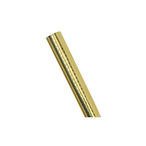 RAYHER - 81014620 - Metall-Papier mit Sternchenprägung, 2seitig kaschiert, Rolle 50x80 cm, brill.gold